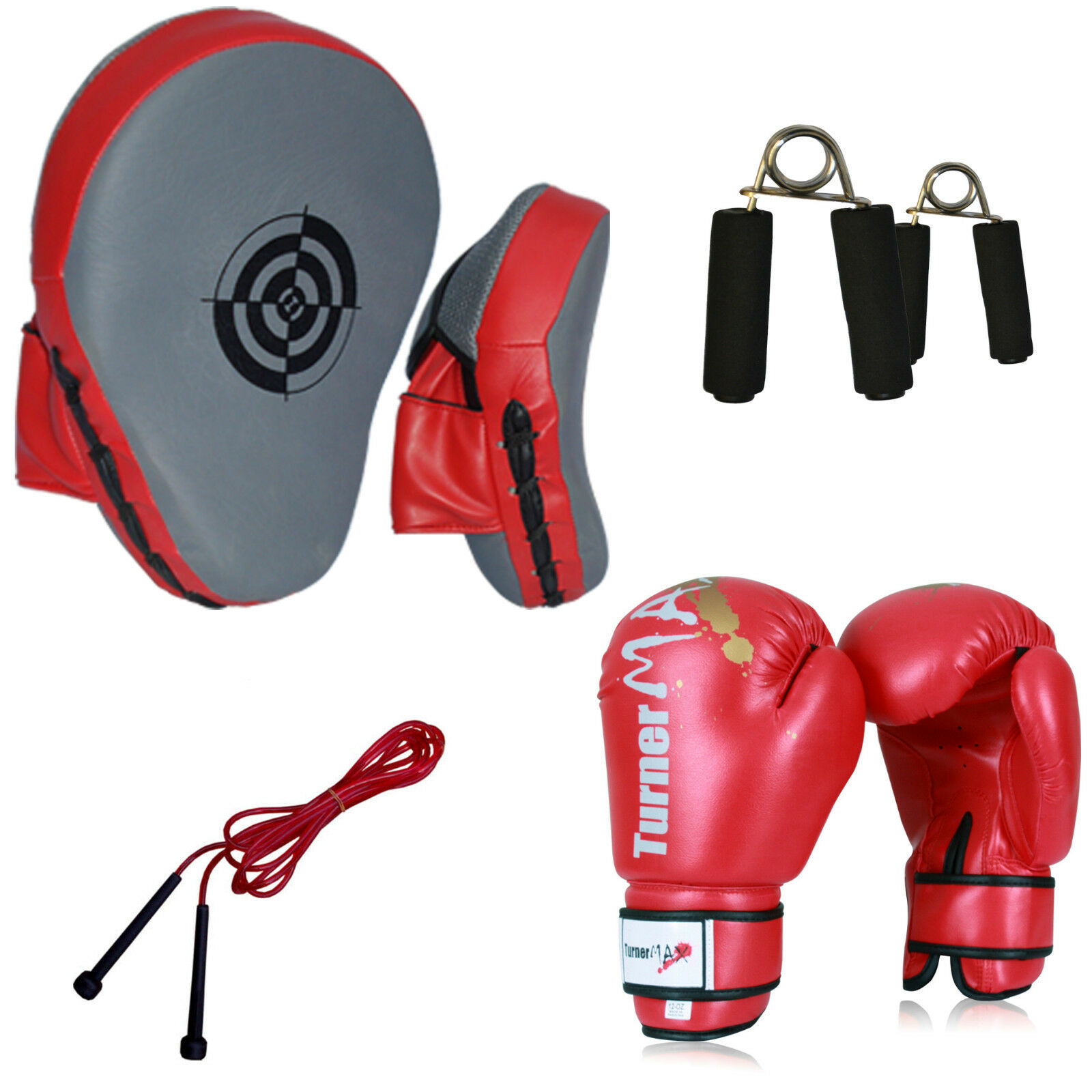 TurnerMAX Gel Focus Pads Boxing Gloves and and and Hook Jab Pad Set Punch Mitts Bags MMA c8375c