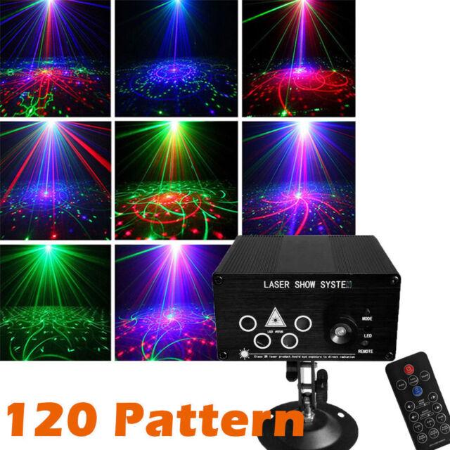 Led Weihnachtsbeleuchtung Laser.120 Muster Rgb Laser Licht Projektor Disco Led Effekt Beleuchtung Für Party