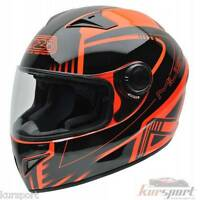 Casco moto integral NZI MUST II XLOGO ORANGE color negro naranja brillo talla M