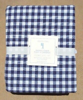 Pottery Barn Navy Sullivan Buffalo Check Gingham Flannel