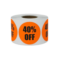 40 Off Sticker Yard Garage Sale Retail Store Clearance Labels 15x15 10pk