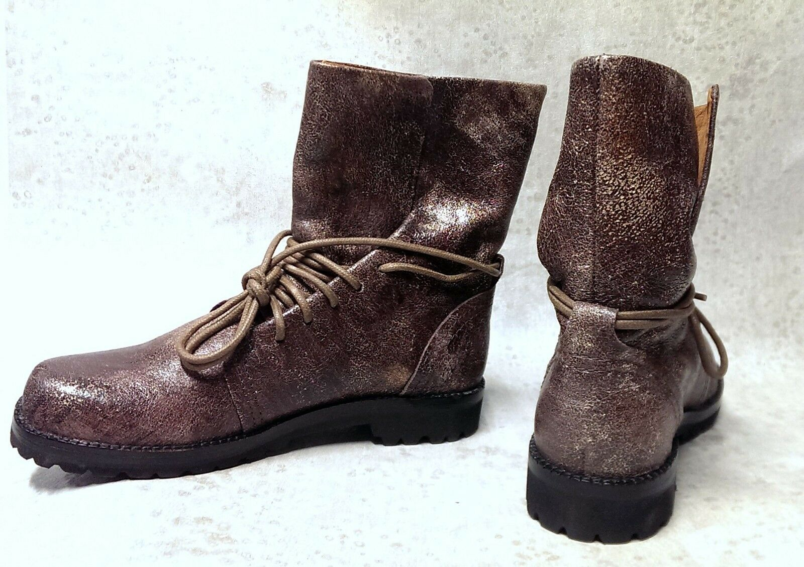 Gentle Souls antiqued leather combat boots deerskin lined size 5.5 B