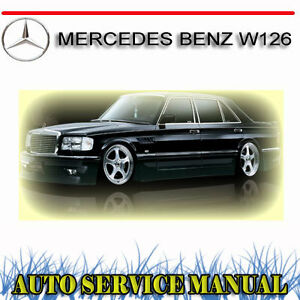 Image Is Loading MERCEDES BENZ W126 SERVICE REPAIR MANUAL DVD