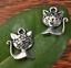 35pcs Tibetan silver kitty Charm Pendant beaded Jewelry 16mm