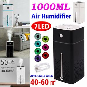 UK USB Air Diffuser Aroma Oil Humidifier Night Light Up Home
