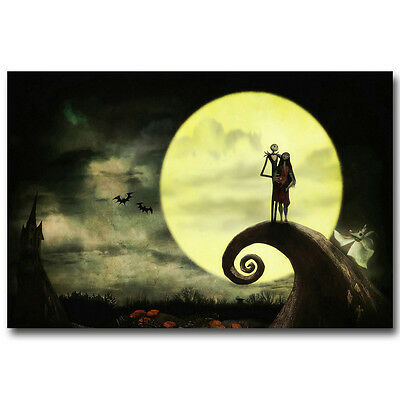 The Nightmare Before Christmas Poster Wall Art Canvas Print 12x18 24x36 inch