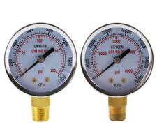 Low And High Pressure Gauges For Oxygen Regulator 2 Inches 14 Npt Pair