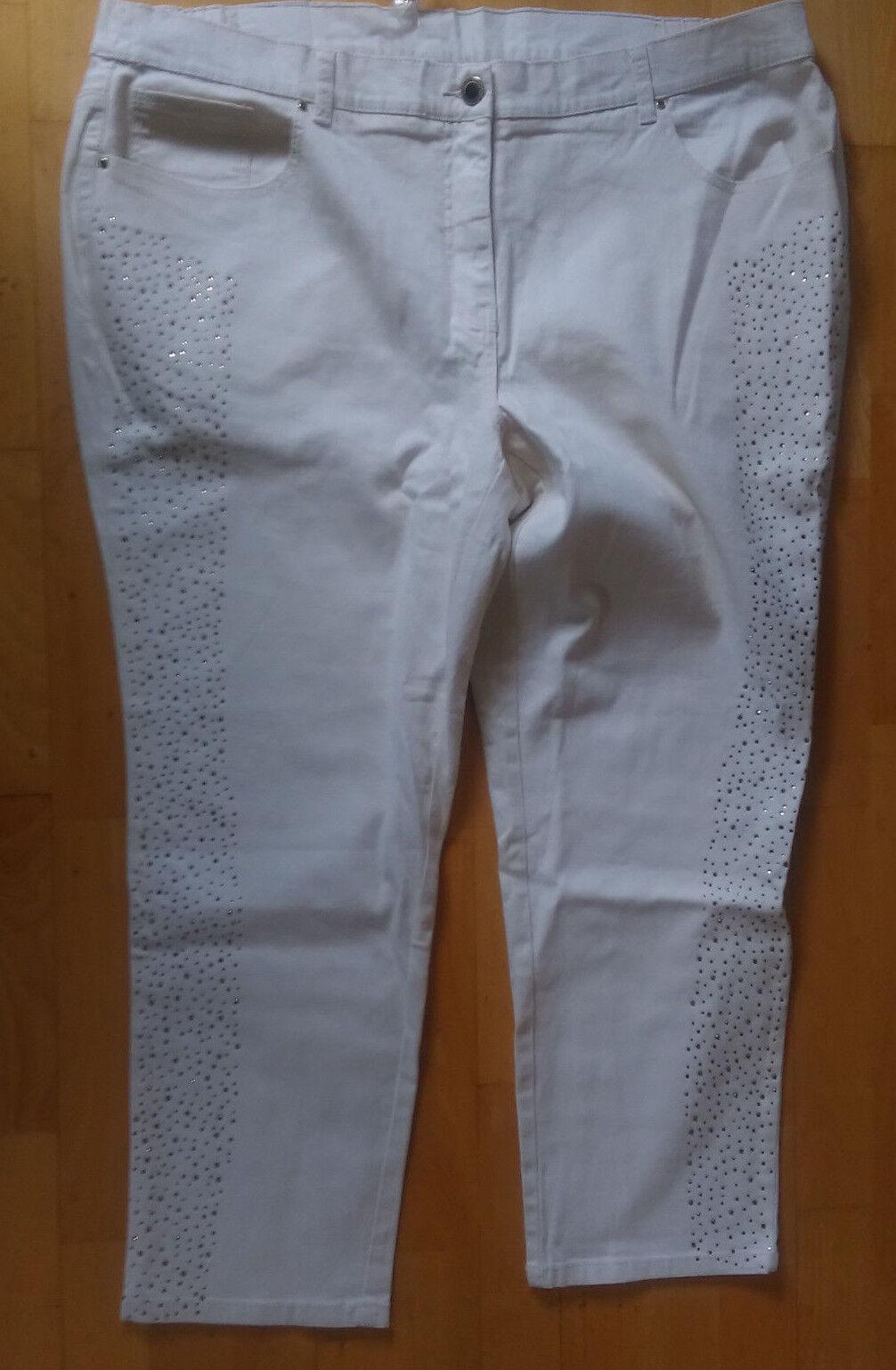 SARAH KERN   KG 26  52 kurz    Jeans  creme  mit Strass  teilelast. Bund   Zart    Sale Düsseldorf    Vielfältiges neues Design    Neues Produkt    Qualitätsprodukte