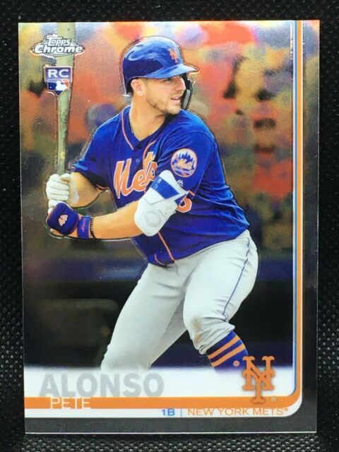 PETE ALONSO RC 2019 TOPPS CHROME ROOKIE CARD! #204 New York Mets