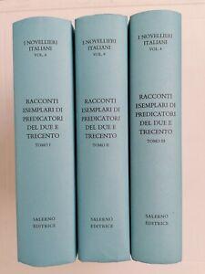Racconti esemplari di predicatori del Due e Trecento. 3 vol. Salerno Editrice