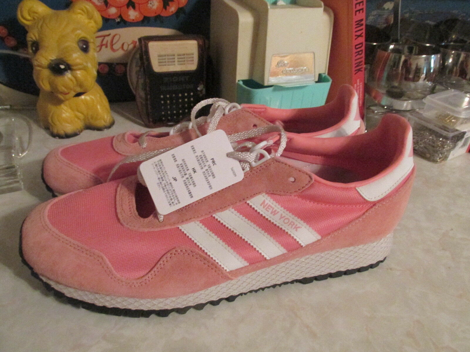 ADIDAS ORIGINALS NEW YORK MEN'S SHOES PINK SIZE US 11 NWOB BY9341