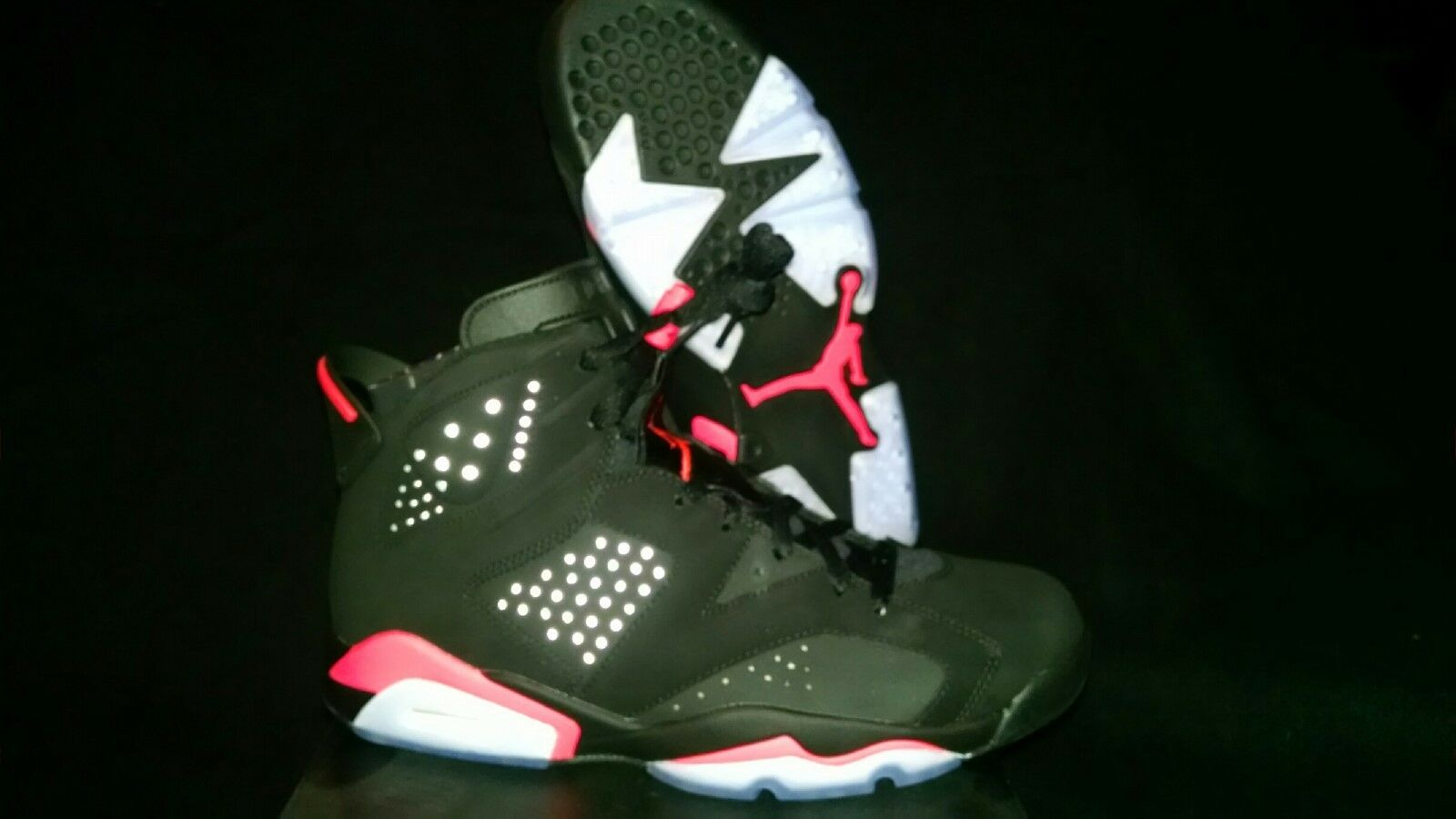 Air Jordan 6 Retro VI Black Infrared 2014 Black Friday 384664-023 Size 4-14