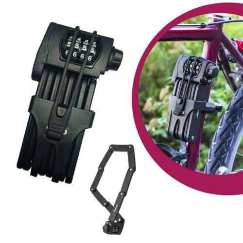 Faltschloss Fahrrad Zahlen Code Sicherung Schloss Halterung Sicherheitsstufe 15