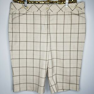 Express-Design-Studio-EDITOR-Beige-Capri-Career-Dress-Pants-Shorts-Sz-10