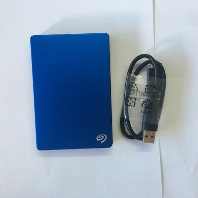 Seagate Backup Plus Slim 750GB USB 3.0 HDD Portable External  Hard Drive BLUE