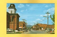 Franklin,North Carolina NC Street Scene 1950's cars, Phone Booth, Angel's Drugs