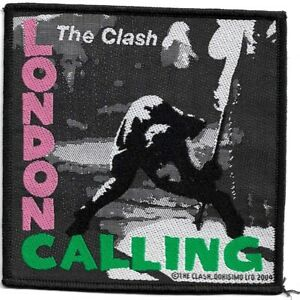 Official-Licensed-Merch-Woven-Sew-on-PATCH-Punk-Rock-THE-CLASH-London-Calling-a