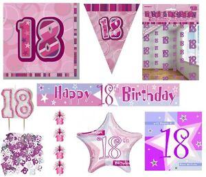 Détails Sur 18ème Anniversaire âge 18 Ans Rose Fête Fille Produits Décorations