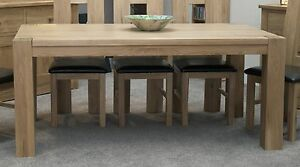 chunky dining room table. Image is loading Pemberton solid oak dining room furniture large chunky  table