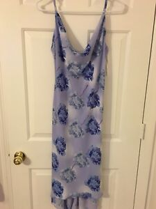 New-Beautiful-blue-floral-maxi-dress-scoop-neck-size-11-12