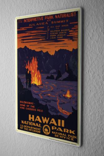 Tin Sign Globetrotter National Park Hawaii Metal Plate