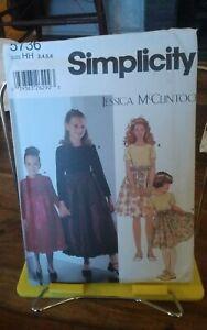 Simplicity-Jessica-McClintock-5736-girls-party-dress-full-skirt-sz-3-6-NEW