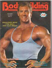 BODYBUILDING MONTHLY muscle magazine/Scott Wilson/The Barbarians 9-85 U.K.
