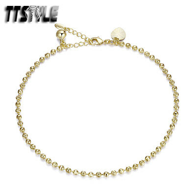 TTstyle Silver//Gold Filled Chain Heart Bracelet Jingle Bell Ajustable NEW