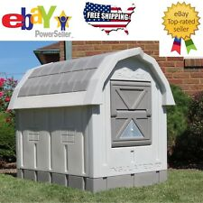 ASL Solutions Insulated Raised Floor Plastic Large Dog House Palace with Door