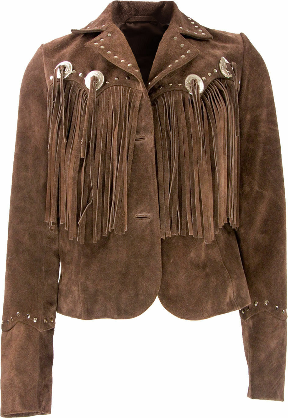 Fransen Giacca, Indiana stile, Country Western Giacca per Signore Pelle