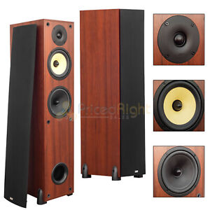 2 Pack 6 5 3 Way Tower Floor Standing Speakers Home Theater Audio