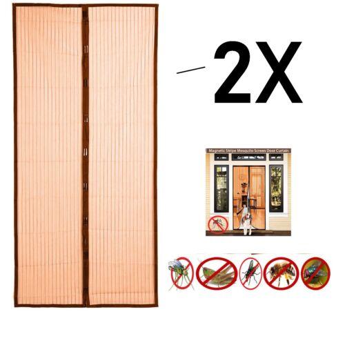 2X Magique Magnétique Insect Porte Net écran Moustique Mouche Insectes Mesh Garde rideau