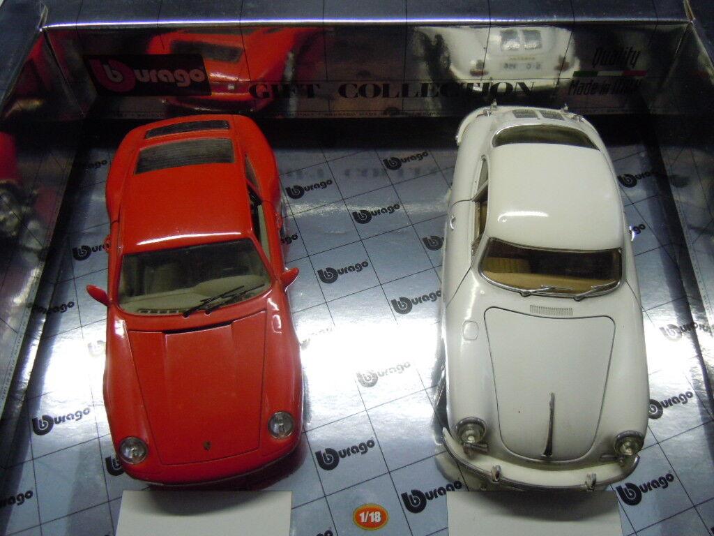 RARA PORSCHE confezione doppia (993 e 356) di BBURAGO in 1 18 NUOVO OVP