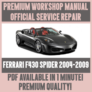 Details about *WORKSHOP MANUAL SERVICE & REPAIR GUIDE for FERRARI F430 on