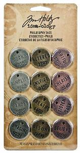 Tim-Holtz-Idea-ology-Philosophy-Tags-Embellishments-Ideaology-Metal-Adornments