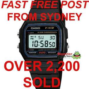 AUSSIE-SELER-VINTAGE-RETRO-ORIGINAL-CASIO-WATCHES-F-91W-1-F91-F91W-F-91-WARANTY
