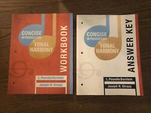 Concise Introduction Tonal Harmony Workbook Answer Key ...