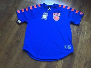 newest f327c 0a26d Details about Nwt Nee York Knicks Mitchell & Ness Basketball Nba Baseball  Jersey Pullover