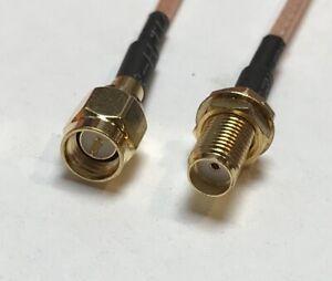 UHF Male to UHF Female Bulkhead Nut O Ring RG316 High Quality USA Pick Length