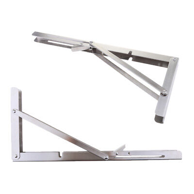 304 Stainless Steel Folding Bench Shelf Bracket Boat Table RV Part 14/""