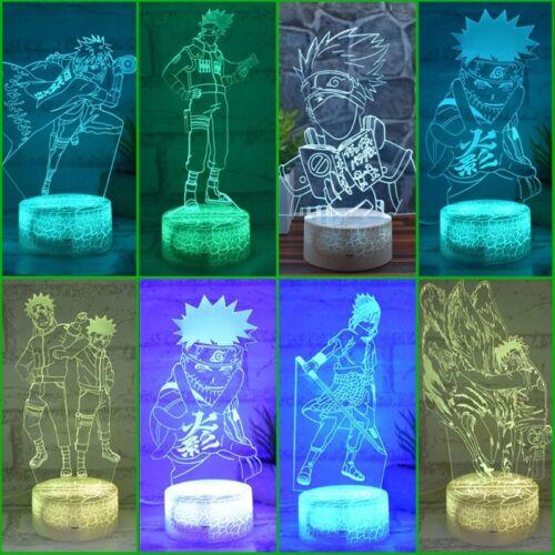 Uzumaki Naruto 3D LED Tischlampe Leselampe Nachtlicht Nachttischlampe 7 Farbe