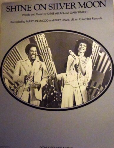 """/""""SHINE ON SILVER MOON/"""" PIANO//VOCAL//GUITAR CHORDS SHEET MUSIC 1978 RARE ON SALE!!"""