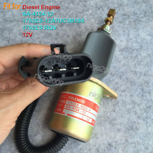 SA-4124-12 Shut Off Solenoid 1752ES-12A7UC3B1S5 12V 1752ES RQV for Diesel Engine