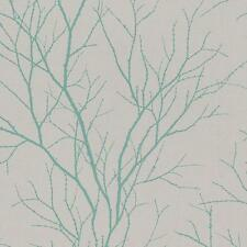 Rasch Twig Tree Branch Pattern Wallpaper Modern Non Woven Textured Forest Motif