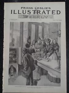 Details About Boston The New England Kitchen Food Sold At Cost Frank Leslie S 1894 Original