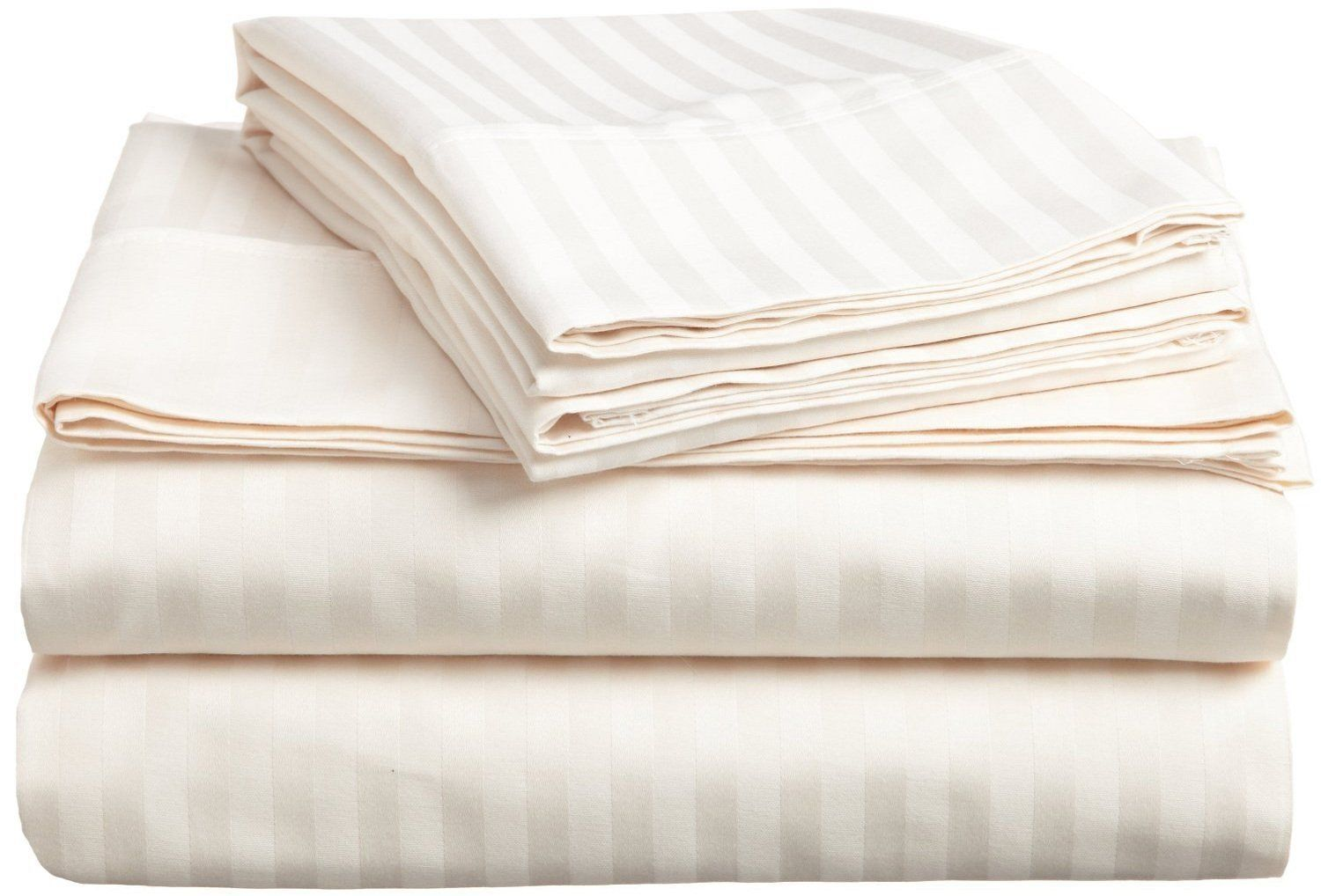 All Bedding Sets Item Choose Size & Item Ivory Stripe 1000 TC Pure Egypt Cotton