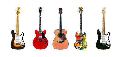 Keith Richards Famous 5 Guitars Greeting Card DL size