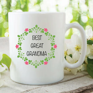 Image Is Loading 11oz Coffee Tea Mug Best Great Grandma Mothers
