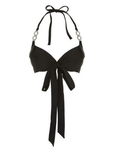 WAS £26! A-H Sizes 32-44 Ann Summers Monaco Bikini Top Black or Coral