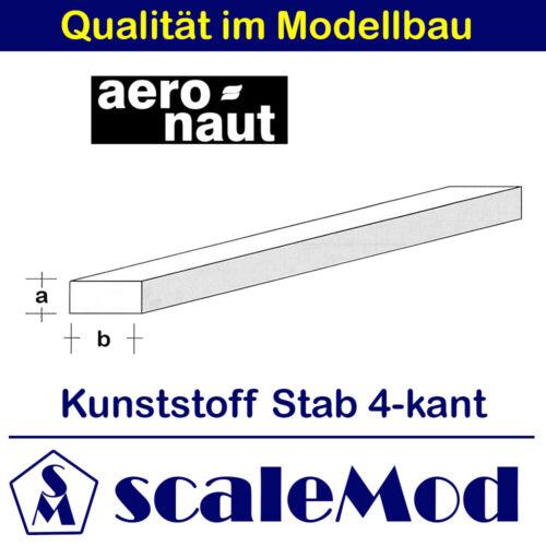 Kunststoff 1,87 EUR//m rechteckiger Stab VE 1Stk 1000mm // 2, ASA 7727//84